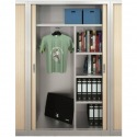 Armoire rideau-penderie Direct System Metalic