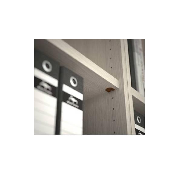 étagère fixe pour armoire à rideau