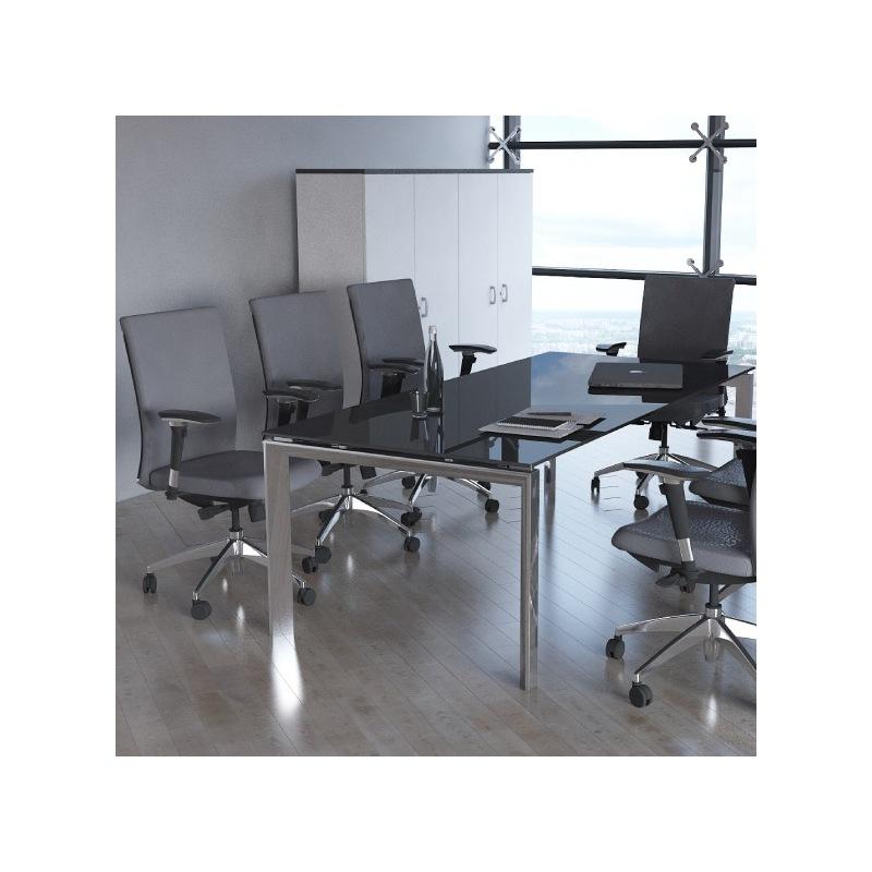 bureau individuel plateau en verre ready